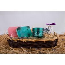 Dárkový koš březové kosmetiky Be2la® - 2 mýdla, levandulový pytlíček, krém
