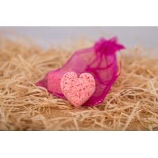 Šumivá srdíčka do vany Be2la® (2 x 15 g) - růže